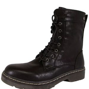 MTNG MUSTANG BLACK WOMENS LACE UP 40 EU 8.5/9 US
